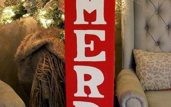 Be Merry Painted Sign