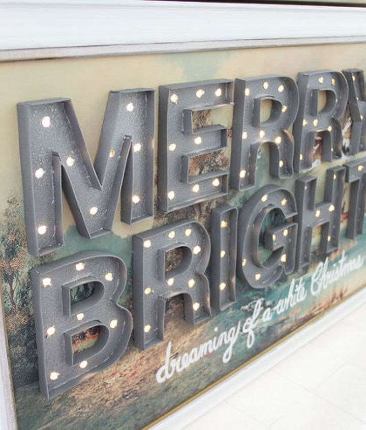 how to make a christmas marquee sign with lights, crafts, lighting, seasonal holiday decor
