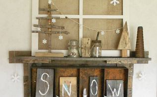 How To Make Rustic Trees And Junky Snowmen Shelf Decor Christmas Decorations Seasonal Holiday