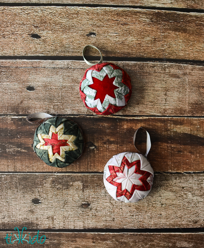 how to make faux quilted christmas ornaments, christmas decorations, seasonal holiday decor