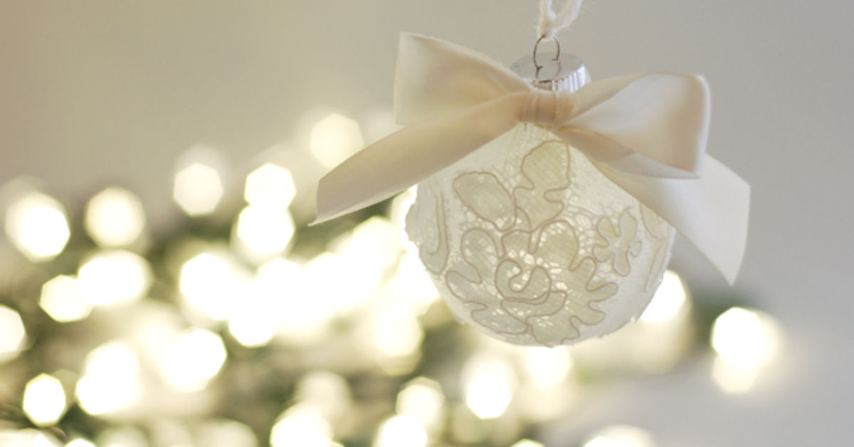 Christmas Ornament Made From Wedding Veil Scraps Hometalk