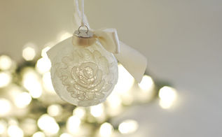 christmas ornament made from wedding veil scraps, christmas decorations, seasonal holiday decor