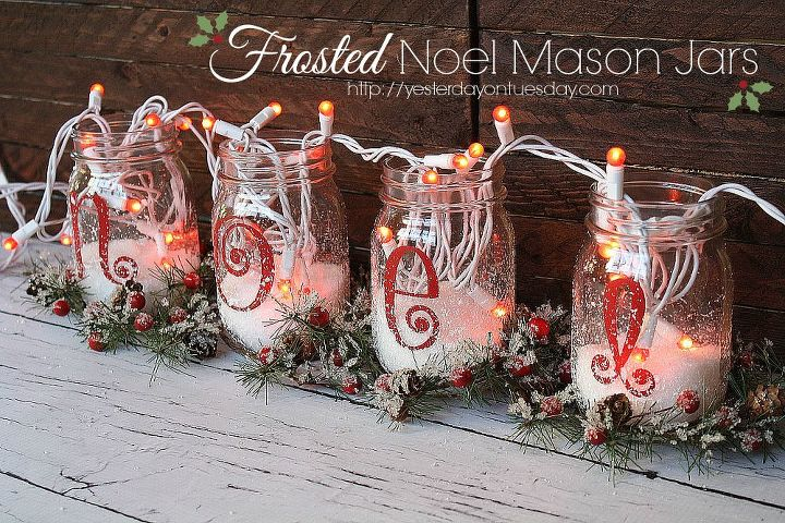 how to make noel mason jars christmas decorations mason jars seasonal holiday decor