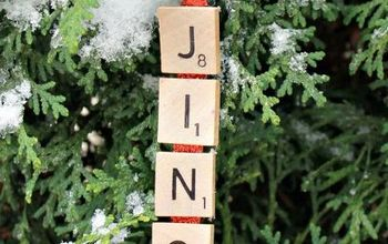 Jingle Bells Scrabble Ornament