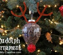 rudolph ornament craft, christmas decorations, crafts, seasonal holiday decor