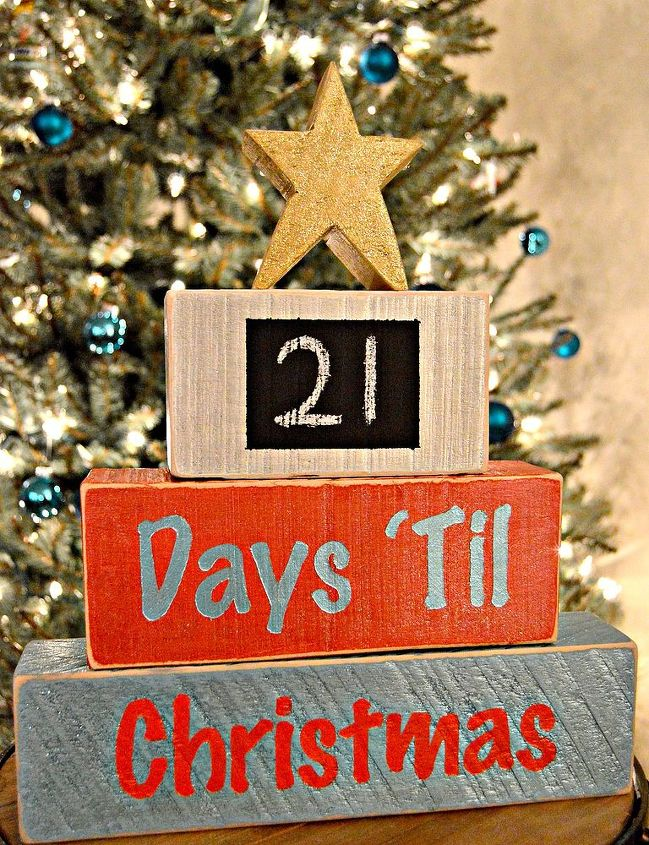 how to make a wood block christmas countdown, chalkboard paint, christmas decorations, crafts, seasonal holiday decor