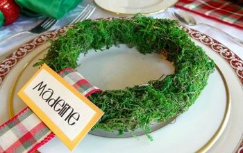 Christmas Place Card Moss Wreath