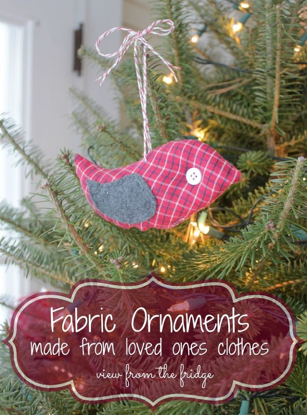 fabric ornaments from loved one s clothing a special memento, christmas decorations, crafts, repurposing upcycling, seasonal holiday decor