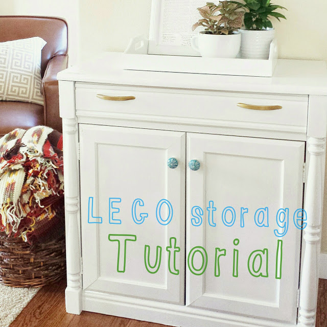 thrift store makeover lego storage idea, painted furniture, storage ideas