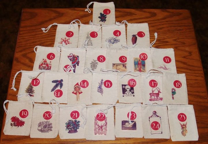 homemade heirloom advent calendar for about 15, christmas decorations, crafts, seasonal holiday decor