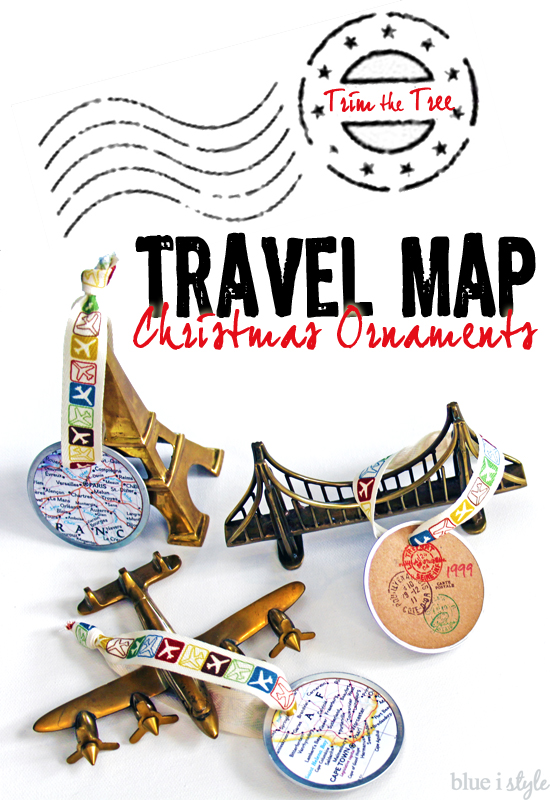how to make travel map ornaments christmas decorations crafts seasonal holiday decor