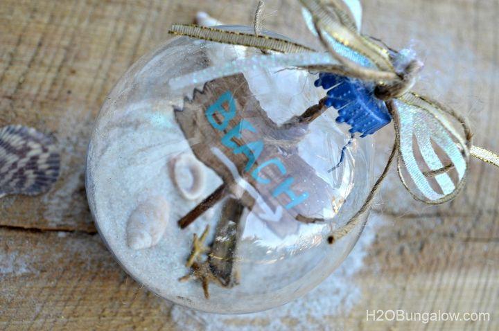 how to make a beach themed christmas ornament, christmas decorations, crafts, seasonal holiday decor
