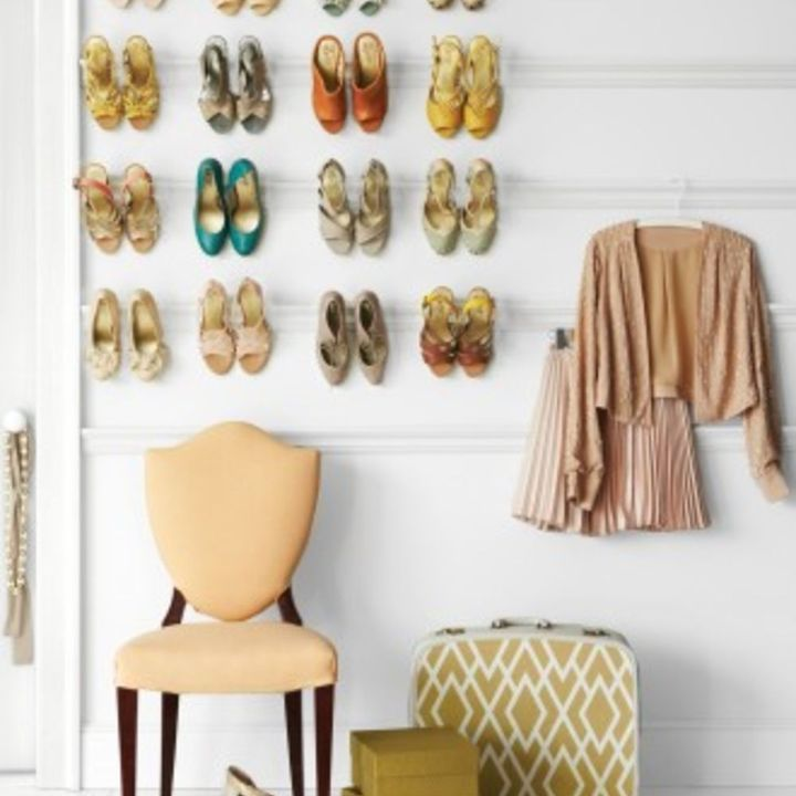 q tips for building a wall mounted shoe rack, closet, diy, how to, organizing, shelving ideas, storage ideas