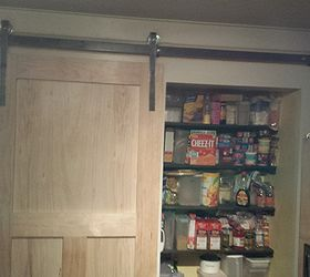 How To Build A Pantry Barn Door, Closet, Doors, Shelving Ideas