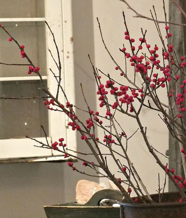Real winterberry branches