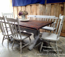 how to paint a dining room table chairs by farm fresh vintage finds, how to, painted furniture