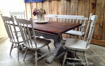 How to Paint a Dining Room Table & Chairs by Farm Fresh Vintage Finds