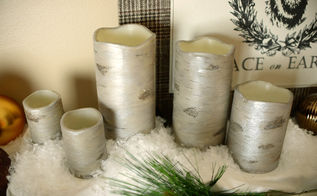 pottery barn knockoff diy birch candles, christmas decorations, crafts, seasonal holiday decor