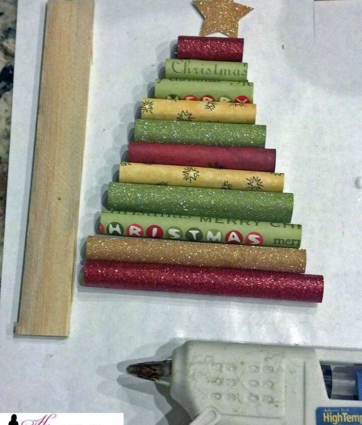 how to make a rolled paper christmas tree ornament, christmas decorations, crafts, seasonal holiday decor