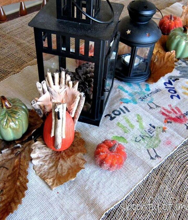 diy thanksgiving table runner, crafts, seasonal holiday decor, thanksgiving decorations