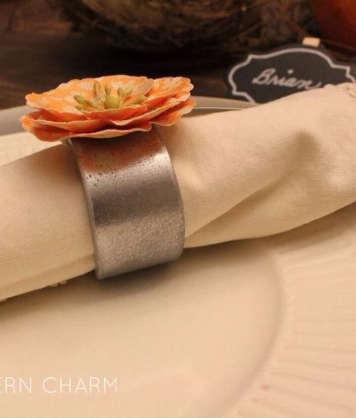 pvc pipe faux metal napkin rings how to, christmas decorations, crafts, repurposing upcycling