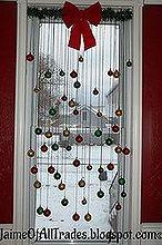 diy christmas window decoration, christmas decorations, home decor, how to, seasonal holiday decor, window treatments