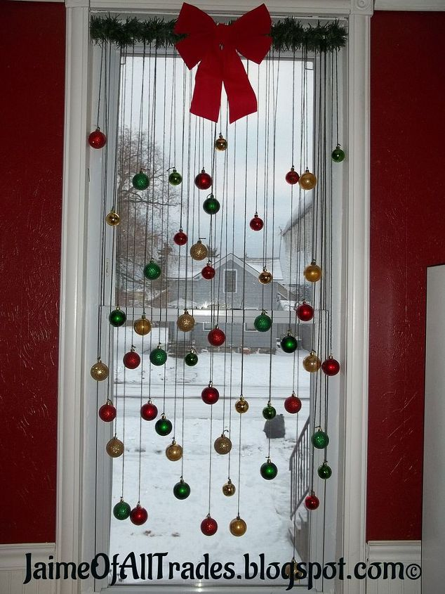 Diy Christmas Window Decoration Decorations Home Decor How To Seasonal Holiday