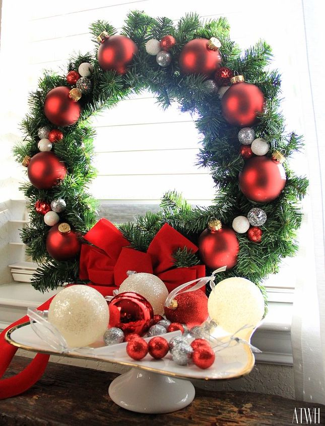 diy holiday wreath under 20 dollars christmas decorations crafts seasonal holiday decor