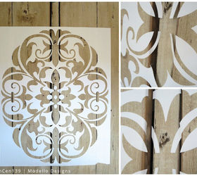Stencil How To: A Rustic Cabinet Makeover With Modello(R) Stencils ...