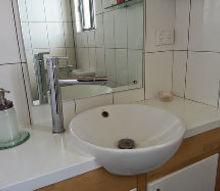 bathroom countertop makeover using paint, bathroom ideas, countertops, diy