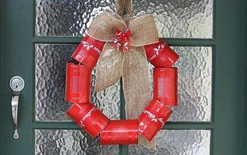 DIY Tin Can Wreath for Christmas