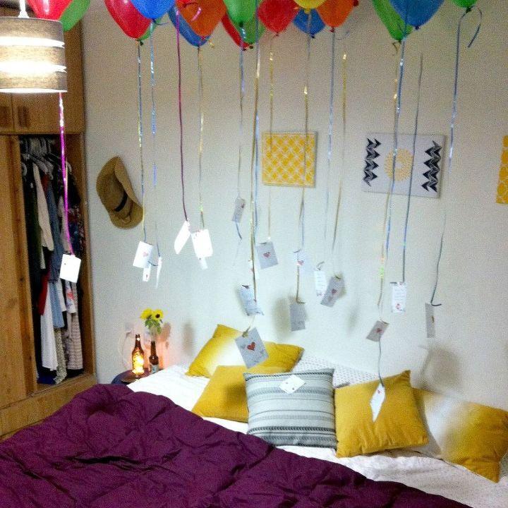 birthday balloon surprise, crafts, diy