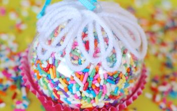 cupcake sprinkles ornament, christmas decorations, crafts, seasonal holiday decor