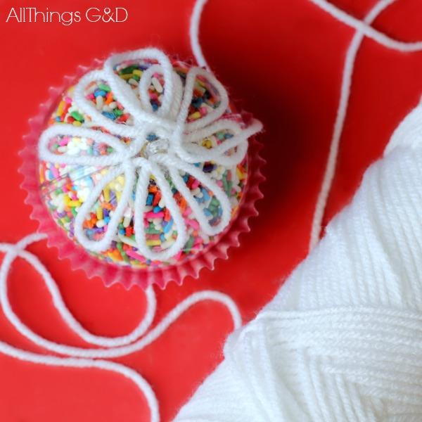Diy Sprinkle Ornaments: Cupcake Sprinkles Ornament