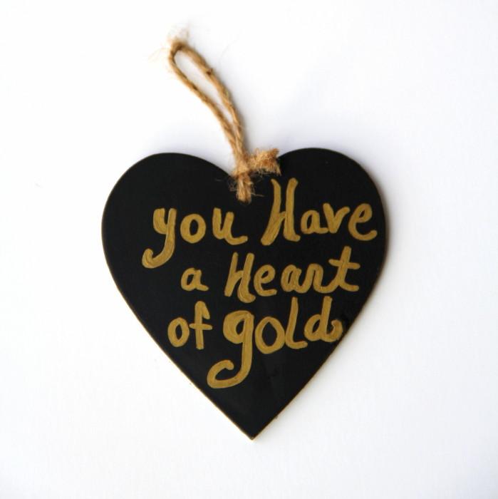 How To Make A Gold Heart Ornament Hometalk