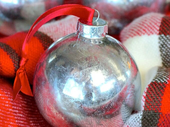 faux mercury glass ornaments, christmas decorations, crafts, seasonal holiday decor