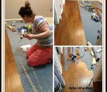 wood floor installation part 2, dining room ideas, flooring, hardwood floors, home decor
