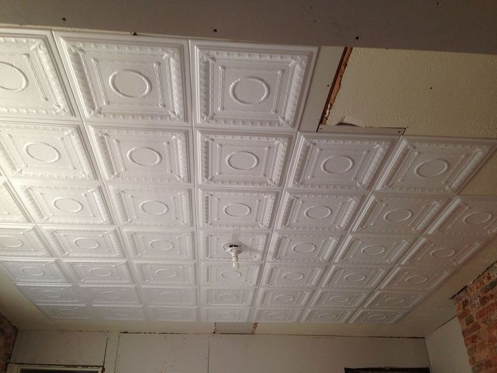 New Super Easy Diy Faux Tin Ceiling Hometalk Vn24