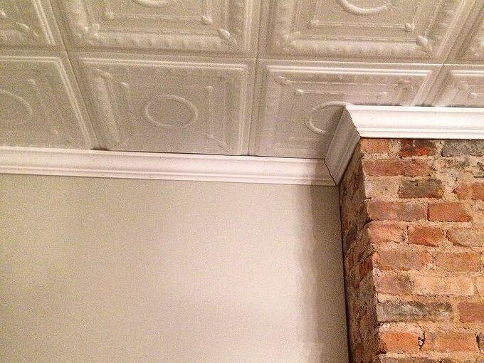 super easy diy faux tin ceiling, diy, home improvement, wall decor