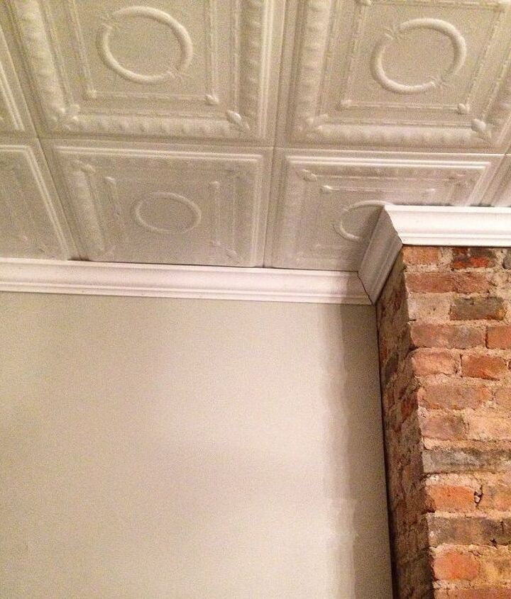 super easy diy faux tin ceiling, diy, home improvement, wall decor