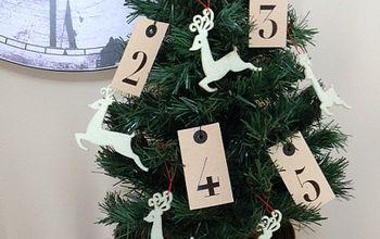 ikea gift tags turned into christmas ornaments, christmas decorations, crafts, seasonal holiday decor
