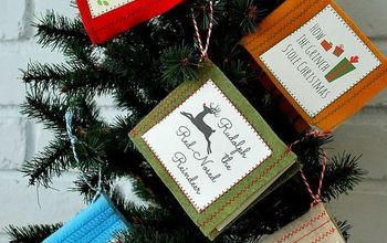 Mini Felt Christmas Book Ornaments