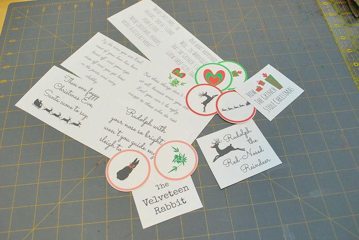 how to make mini felt christmas book ornaments, christmas decorations, crafts, seasonal holiday decor