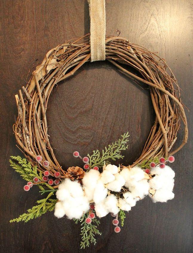easy cotton wreaths, crafts, wreaths