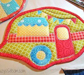 how to make a happy camper pot holder crafts reupholster