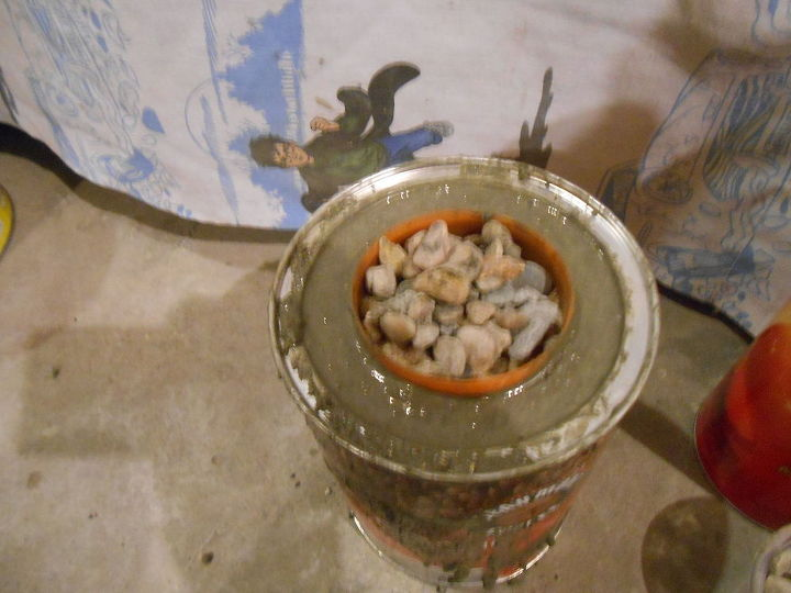 diy concrete candle holders from pringle and coffee cans, concrete masonry, crafts, home decor, repurposing upcycling