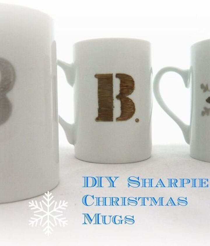 diy sharpie christmas mugs cute gift idea, christmas decorations, crafts, painting, seasonal holiday decor