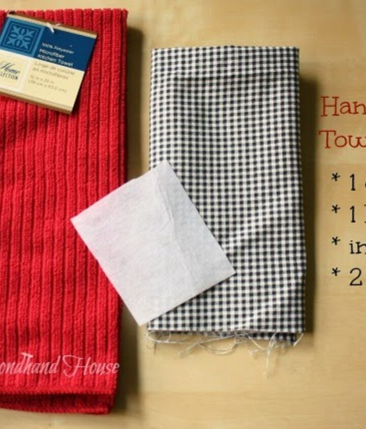 hanging dish towel tutorial, home decor, how to, repurposing upcycling, reupholster