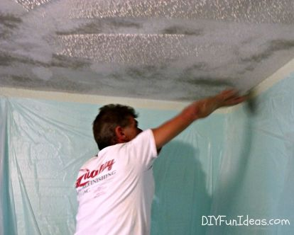 How To Remove Popcorn Ceilings In 30 Minutes Diy Home Maintenance Repairs