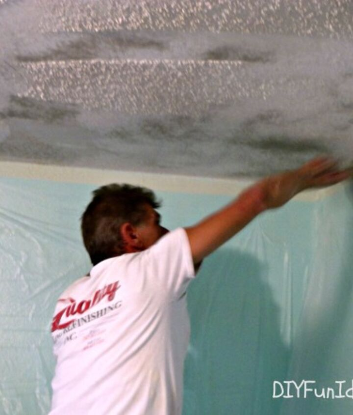 how to remove popcorn ceilings in 30 minutes, diy, home maintenance repairs, how to, painting
